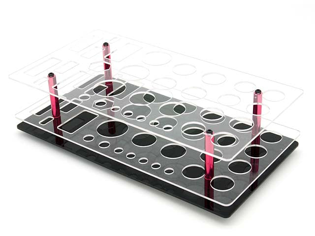 AIP Acrylic Shelf Tool Stand - 33 holes (AIP-TO-06)