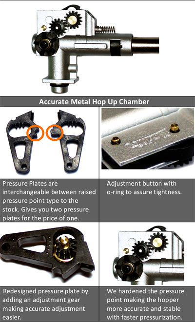 Modify Quantum Accurate Metal Hop Up Chmaber for M4/M16 Series (Hp-02-01)