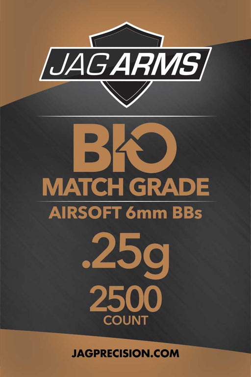 JAG Armament Biodegradable .25 gram 2500rd White BB