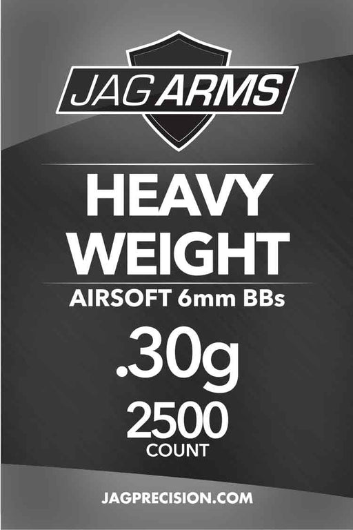 JAG Armament Heavy Weight .30 gram 2500rd White BB