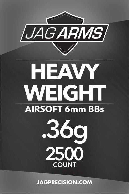 JAG Armament Heavy Weight .36 gram 2500rd Black BB