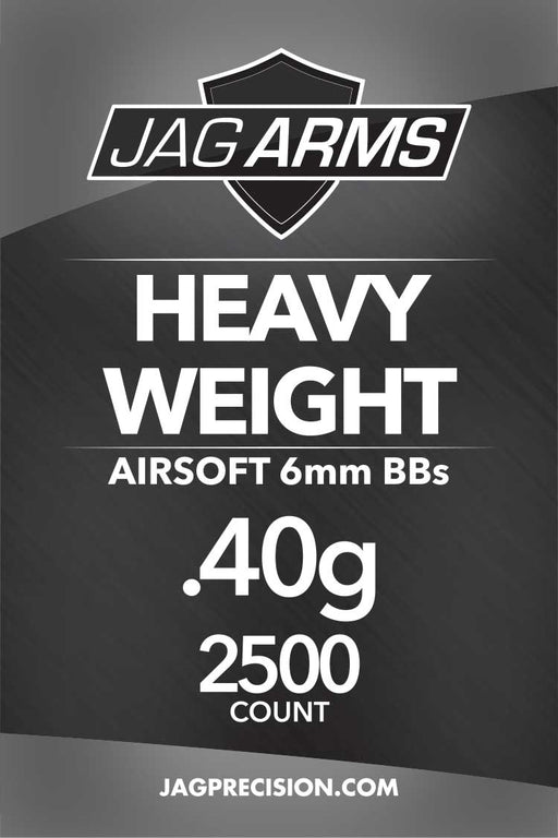 JAG Armament Heavy Weight .40 gram 2500rd Black BB