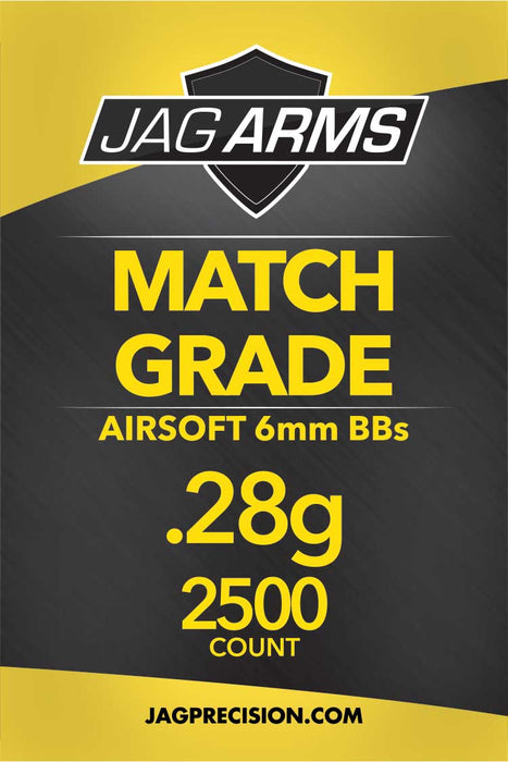 JAG Armament Match Grade .28 gram 2500rd White BB