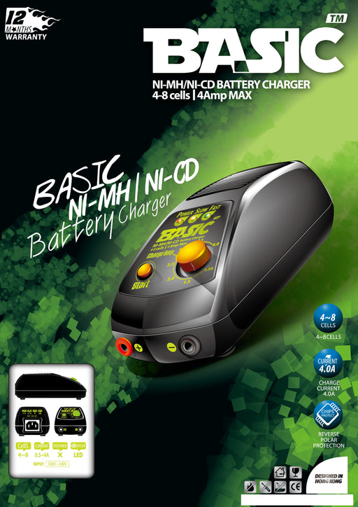 BOL Basic NiMh/NiCd Battery Charger (4 Amp Max)(6~10cells)(CHR-BASIC-01)