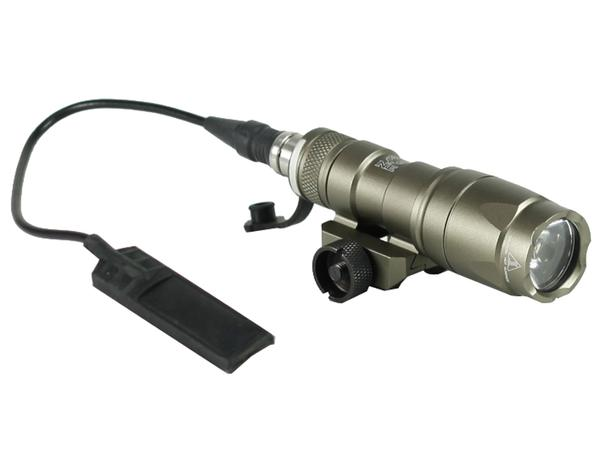 Bravo Airsoft Mini Tactical Flashlight with Pressure Pad and Mount