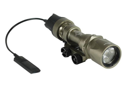 Bravo Airsoft Super Tactical LED Flashlight with Pressure Pad and Mount in Black