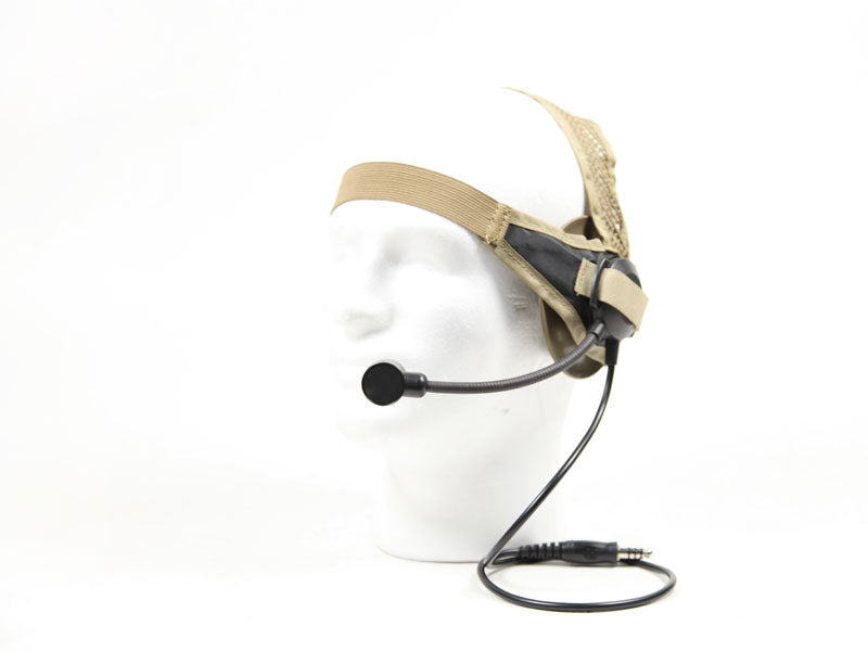 Bravo Airsoft Headset #2 Tan for Motorola one pin