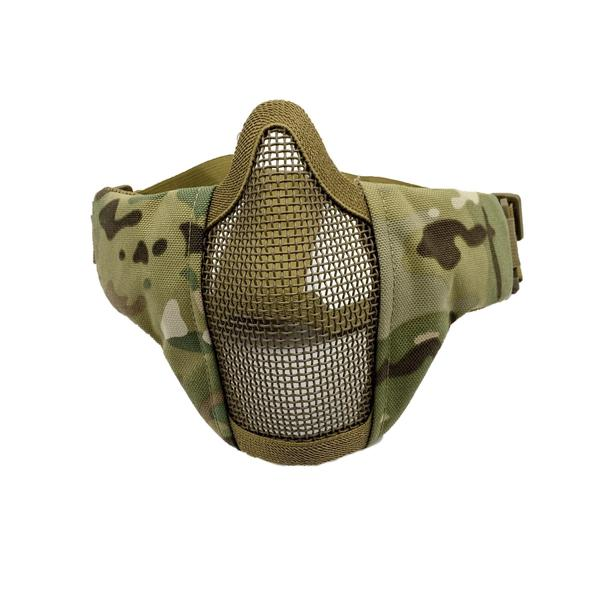 Bravo Airsoft Tactical Gear: V3 Strike Metal Mesh Face Mask in Black