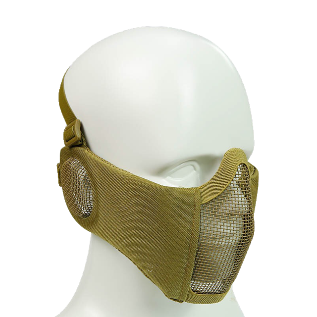 Bravo Airsoft Tactical Gear: V4 Strike Metal Mesh Face Mask with Ear Protection