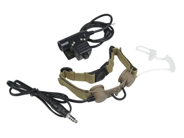 Bravo Airsoft Throat Mic with PTT for 1 Pin Motorola