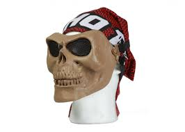 Bravo Airsoft Tactical Gear: Skull Mesh Mask in TAN