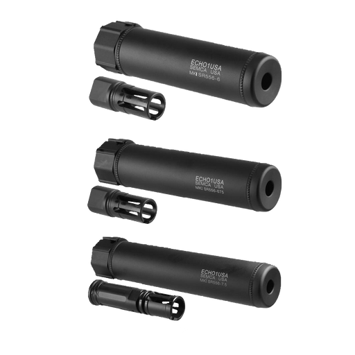 Echo1 Mk1 SR556 Quick Detach Barrel Extension in Black - OEM by Madbull Airsoft