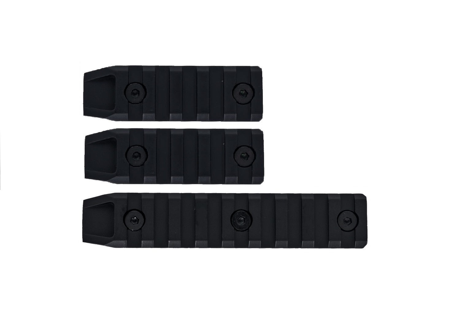 Echo1 3pc Metal Airsoft Keymod Rail Slot Set in Black