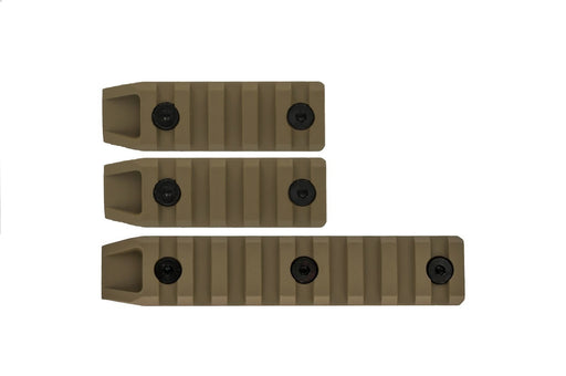 Echo1 3pc Metal Airsoft Keymod Rail Slot Set in Tan