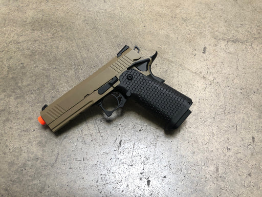 JAG Arms GM4 Tan Slide with Black Frame Gas Blow Back Pistol(GBB 01)