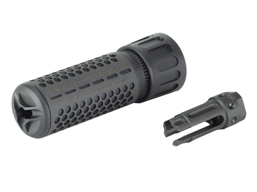 Knight's Armament Airsoft Fully Lic. KAC CQB Quick Detach Barrel Extension in Black OEM by Madbull Airsoft - CCW