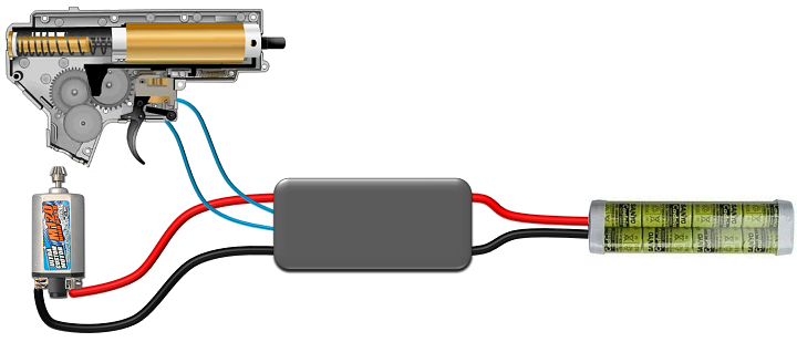 JAG Arms Micro MOSFET with wiring