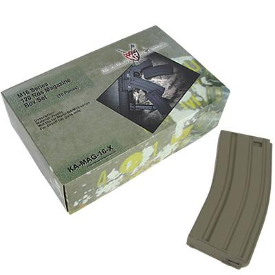 King Arms M16 120 Rounds Magazines Box Set in Black -10pcs