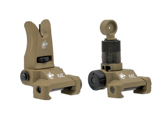 Knight's Armament Airsoft Back Up Iron Sights in Tan