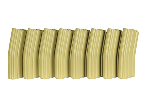 MAG Brand M4 Plastic 130rnds Mid Cap for TM M4 - 8/Box (TAN)