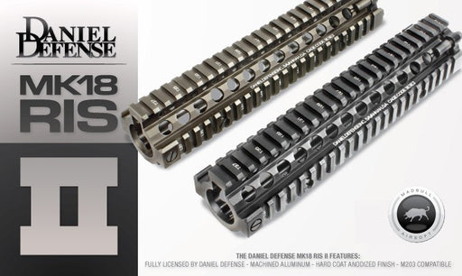 "Madbull Airsoft Daniel Defense 9.5"" MK18 Rail in Black"