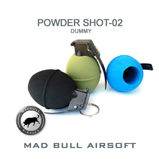 Madbull Airsoft DUMMY Foam Grenade Power Shot 2 in Black