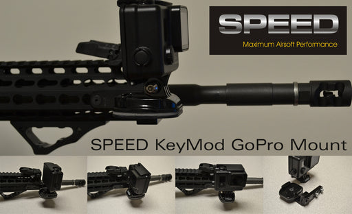 Speed Airsoft Keymod GoPro Rail Mount Kit (SA3738)