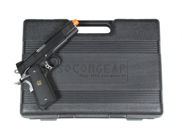 Socom Gear Full Metal Punisher 1911 Two Tone Gas Blow Back Pistol with Hard Case