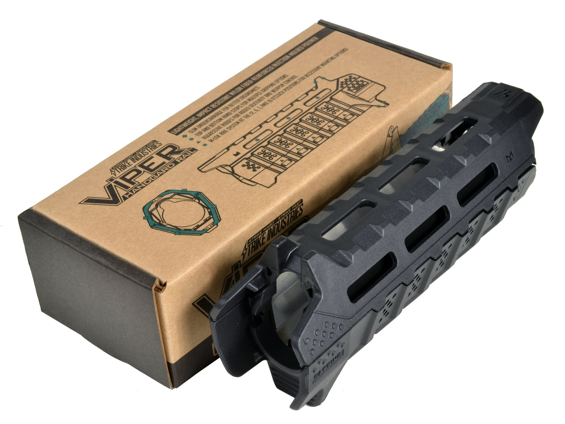 Strike Industries Viper Carbine Hand Guard with Black Heat Shield in FDE