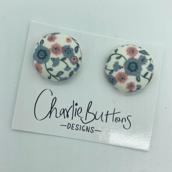 # Fabric Greg Pink Floral Studs