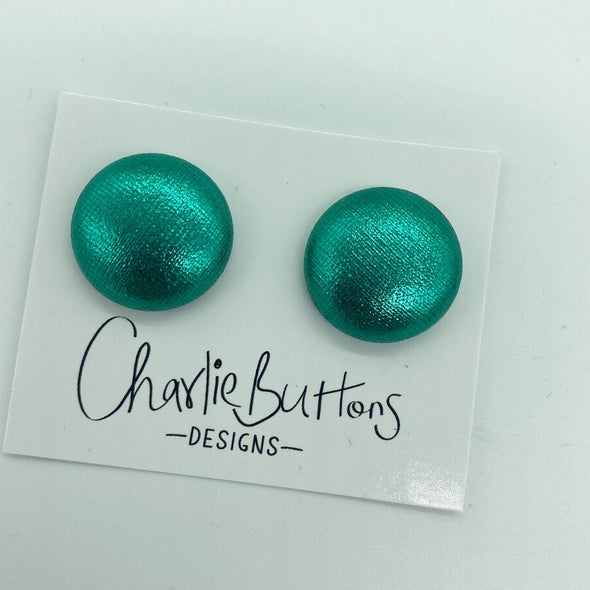 # Turquoise Shimmer Fabric Studs
