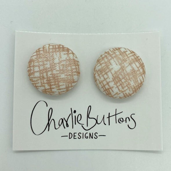 Rose Gold Fabric Studs #43