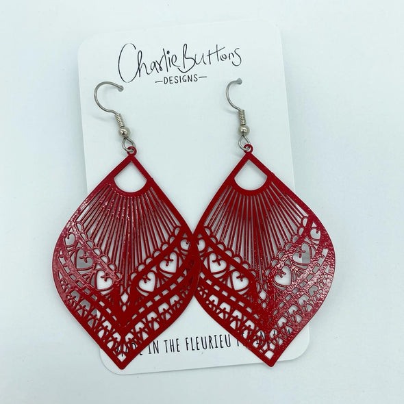 Detailed Dangle Hook Red