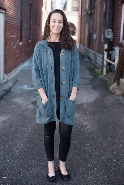 Heavy Waffle Buttoned Cardigan