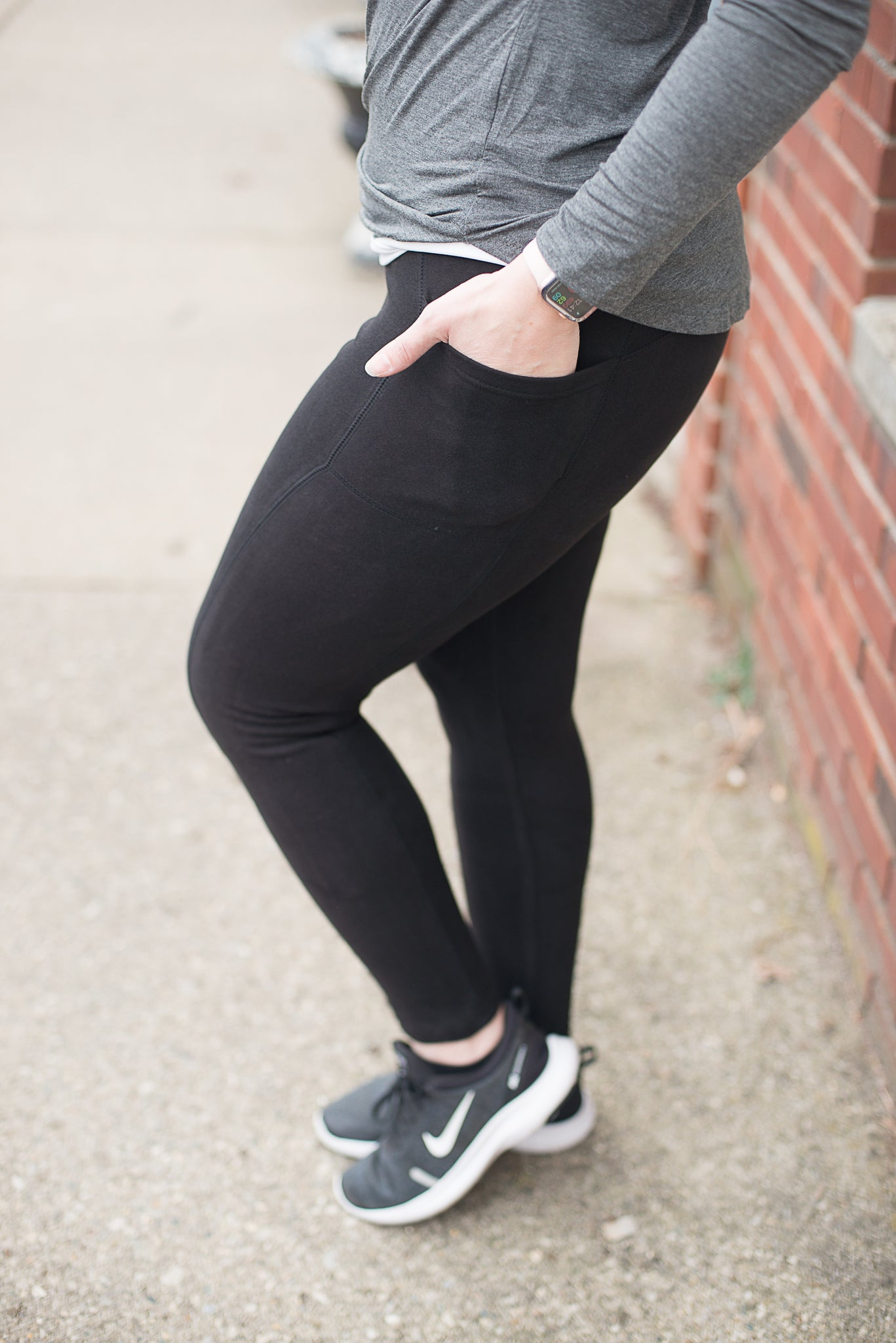 Lovable Black Legging With Side Pockets