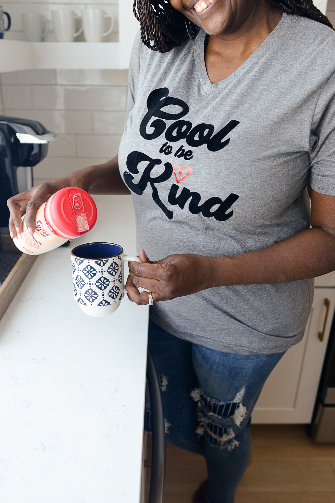 Cool To Be Kind V-Neck Tee