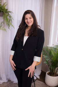 Black with Black Dots Blazer