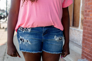 Fresh As A Daisy Patch Judy Blue Shorts