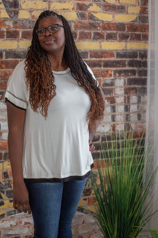 Keep It Simple Ivory Short Sleeve