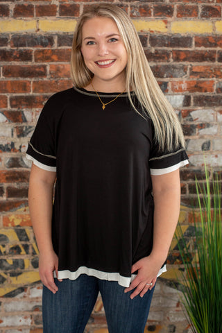 Keep It Simple Black Short Sleeve
