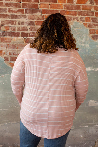 Light pink with white stripe