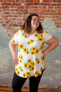 Crazy About Sunflower Top