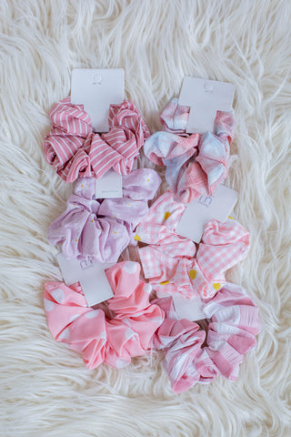 Spring Pink Fever Scrunchies