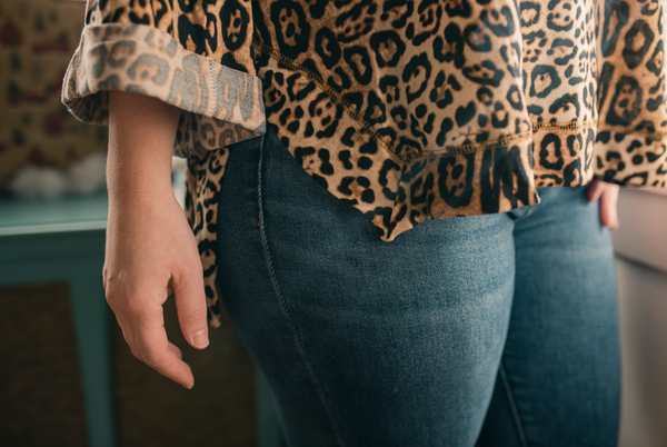 Leopard 3/4 Sleeve Top