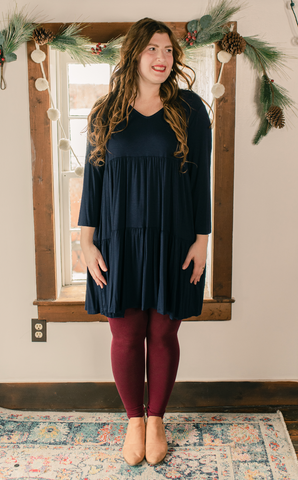 Navy tiered dress- Final SALE