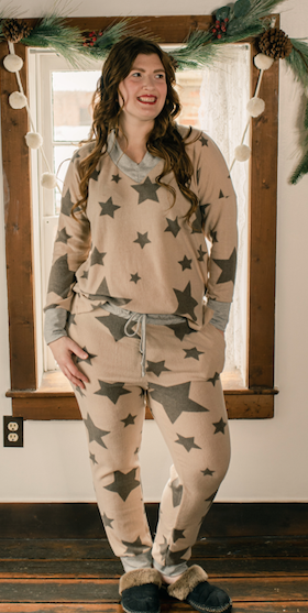 Star Print Knit (Top only) - Final Sale