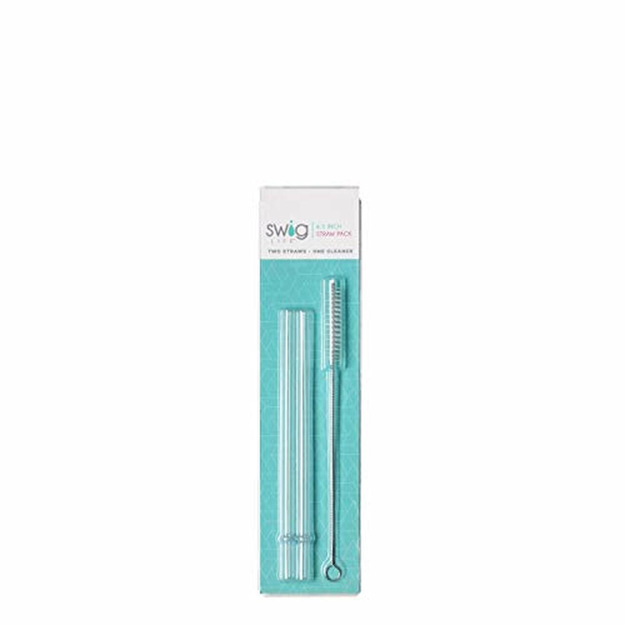Short Clear Reusable Straw Set