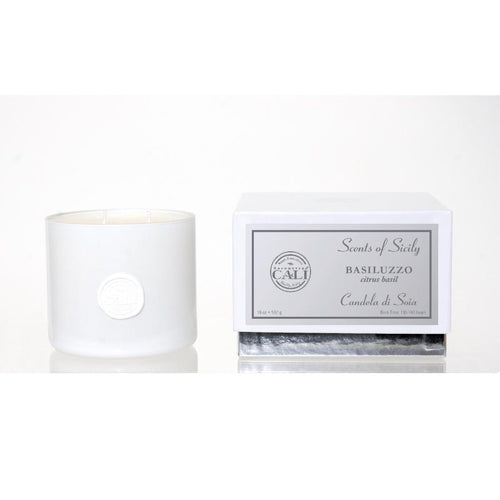Scents of Sicily Collection - 18 oz soy candle - Basiluzzo (citrus basil)