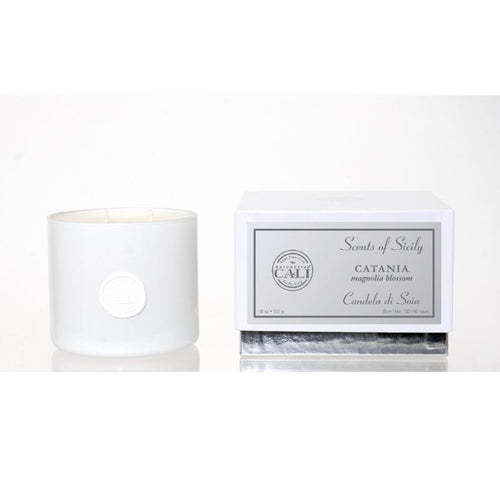 Scents of Sicily Collection - 18 oz soy candle - Catania (magnolia blossom)