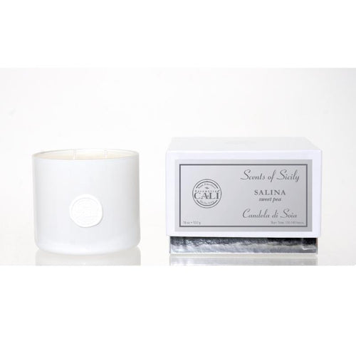 Scents of Sicily Collection - 18  oz soy candle - Salina (sweet pea)